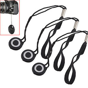5pcs Lens Cap Cover Keeper Holder String Leash Strap Camera Nikon Canon Sony