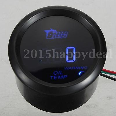 "2"" 52mm Digital Universal Oil Temp Temperature Meter Gauge+Sensor Black LED UK"