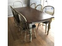 Farmhouse Style Rustic Table and Chairs