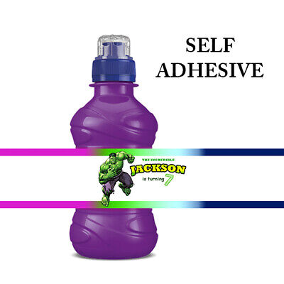 THE HULK PERSONALISED FRUIT SHOOT DRINK BOTTLE BIRTHDAY PARTY LABELS - The Hulk Drink