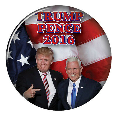 Donald Trump   Mike Pence Campaign 3  Pinback Button Vote For President 2016