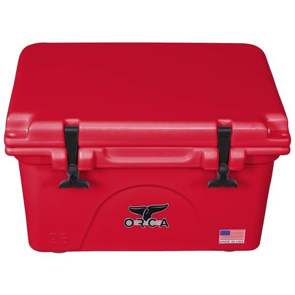 ORCA 26QT RED RED COOLER / LIFETIME WARRANTY / RED 26 QUART
