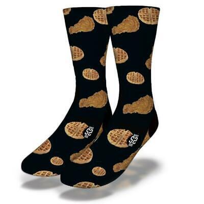 Junioren Waffel (Neu Erwachsene Junior Savvy Sox Huhn & Waffeln Schwarz Socken Limited Release)