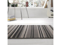 Grey striped rug for sale