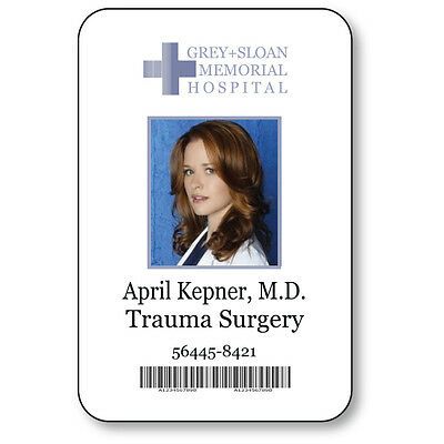 APRIL KEPNER NAME BADGE HALLOWEEN COSTUME GREYS ANATOMY TV SERIES SAFETY PIN  (April Halloween Costume)