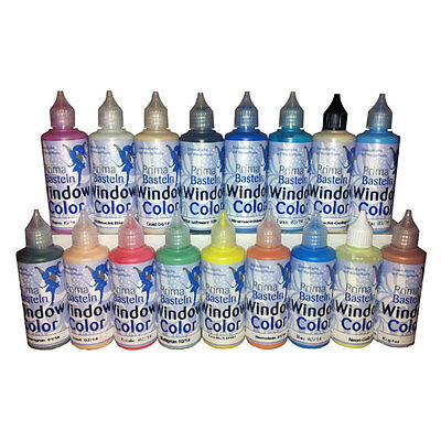 (100 ml=1.50EUR) Window Color Set 25 Farben je 80 ml
