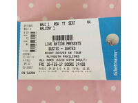 Busted Tickets x 2 10/02/2017, can no longer attend so want to sell these on.