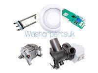 Washing machine parts spares motors doors seals switches pcb controls panels pumps Hotpoint Zanussi