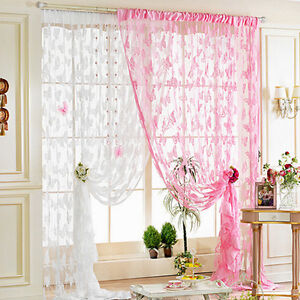 Beauty-Butterfly-Tassel-String-Door-Curtain-Window-Room-Divider-Curtain-Valance
