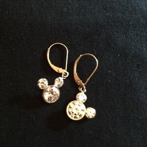DISNEY 14K GOLD MICKY MOUSE EARRINGS