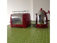 Red dualit toaster and kettle package