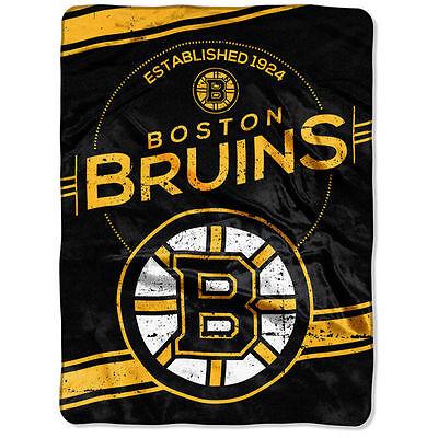 (Boston Bruins Super Sized Plush Blanket 60 x 80)