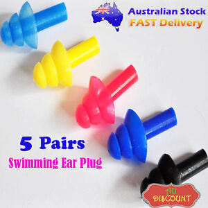 5pcs Waterproof Swimming Silicone Adult Ear Plug Mushroom Sports Protector Tool