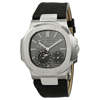 Patek Philippe Nautilus Automatic Moonphase Slate Grey Dial Mens Watch 5712G/001