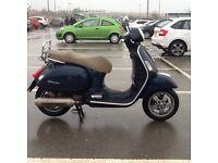Vespa Gts 250cc scooter 57 reg, may deliver
