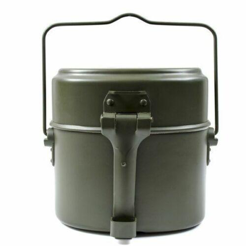 BW Germany Army Style mess kit Aluminium military bowler pot 3 pieces kit repro