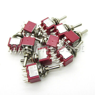 50mini Toggle Switch Dpdt 3 Position On-off-on 4-pin 250v 2a 125v 6a Wholesale