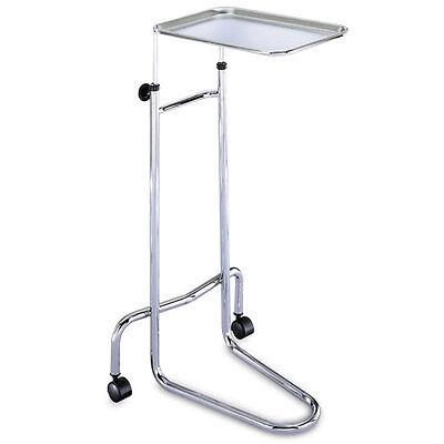Hand-adjustable Chrome Stand Double-post Mayo Stand 34.5-54 Height Range 1 Ea
