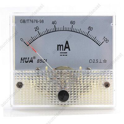 1 Dc 100ma Analog Panel Amp Current Meter Ammeter Gauge 85c1 White 0-100ma Dc
