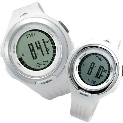 NEW  ADIDAS WHITE POLYURETHANE STRAP+SILVER ACCENT DIGITAL WATCH-ADP3038