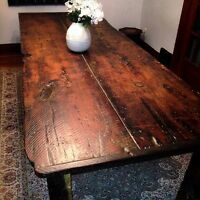 Amazing harvest table built with 200 year old barn wood