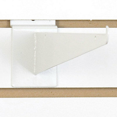 Slatwall Shelf Bracket In White 12 Inch - Set Of 10