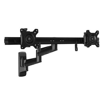 StarTech ARMDUALWALL Articulating Wall Mount Dual Monitor Arm - 24-inch Screen Articulating Wall Arm Mount