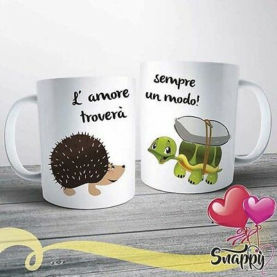 Coppia tazze personalizzate con nome love amore idea regalo san valentino