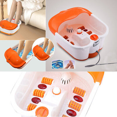 MASSAGE FOOT BATH THERAPY SPA ROLLER BUBBLE VIBRATION FEET RELAX MULTIFUNCTION