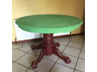 Round / Circular Dining Table with Ball & Claw Feet! Upcycle project!