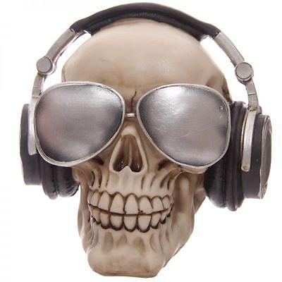 Spardose skull Totenkopf mit Kopfhörer und Sonnenbrille Coolman