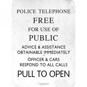 DOCTOR WHO POLICE BOX SIGN A5 STEEL SIGN TIN PICTURE WALL ART RETRO PLAQUE DR