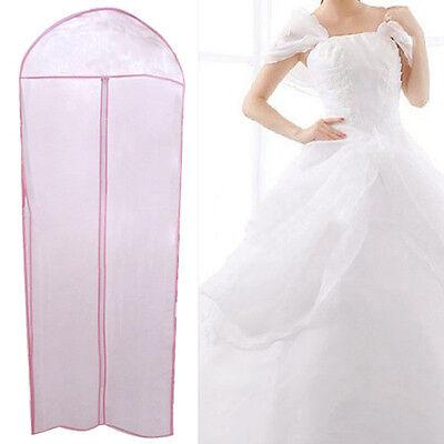 "72"" Waterproof Wedding Dress Bridal Gown Garment Cover Storage Bag Carrier Zip"