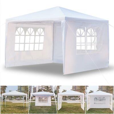 10'x10' 3-Sides Portable Gazebo Waterproof BBQ Tent Garden Wedding Party Shelter