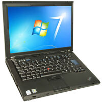 Lenovo Laptop T61 Intel Core 2 Duo 2.00GHz 2GB Memory 80GB HDD