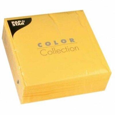 Gelbe Servietten, 3-lagig, 33 x 33cm, 50 Papierservietten | Partyservietten ()