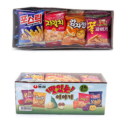 """NongShim """"Delicious Story"""" Korean Snack Mini 24Packs Collection"""