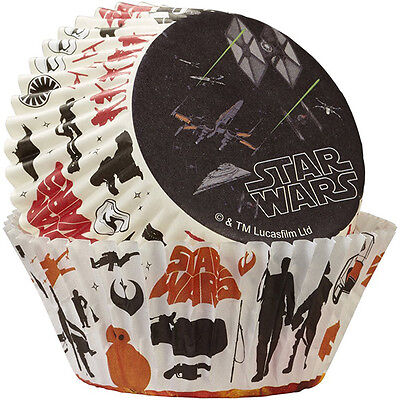 50 Star Wars Baking Cups Paper Cupcake Tools Cake Decorating Supplies Birthday - Star Wars Birthday Cakes
