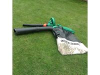 Leaf blower with vacuum attachment