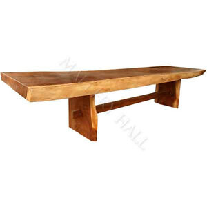 Long Slab Dining Table Reclaimed Wood 144 Extra Long Trestle Business