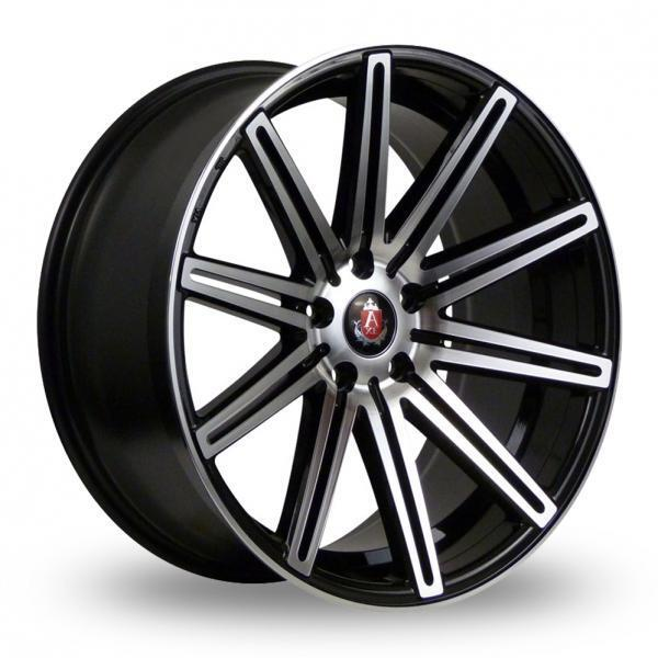 """19"""" AXE EX15 GLOSS BLACK MACHINED FACE ALLOY WHEELS ONLY NEW 5X108 ET45 RIMS"""