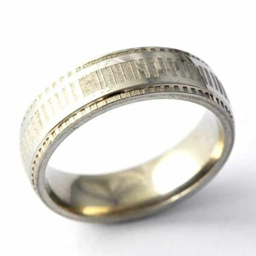 NEW Stainless Steel Wedding Band Ring Mens Womens Gold