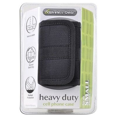 Wireless Gear 4HL963 Heavy Duty Cell Phone Case For Small Phone (Black) New