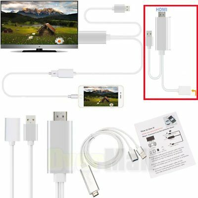 MHL Micro USB To HDMI 1080P HDTV Cable Adapter For SamsungS6/S7/S8 & iPhone6/7/8