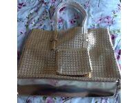 Metallic gold bag unused
