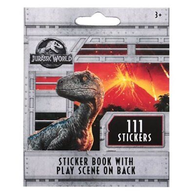 111 Jurassic World  Stickers Party Favors Teacher Supply book 9 sheets