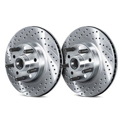 For Dodge Ramcharger 85-93 Brake Rotors Drilled & Slotted Vented 1-Piece Front