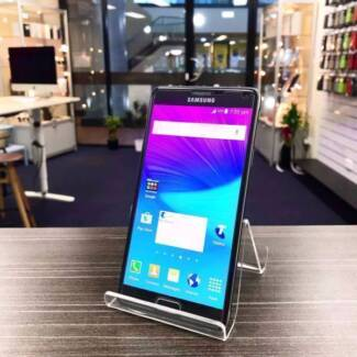 Pre owned Galaxy Note 4 Black 32G Unlocked with charger Waranty