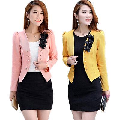 64f1afd371669 Korean Style Stylish Women Slim Suit OL Blazer Coat Jacket S M L XL XXL