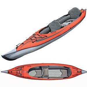 New Advanced Elements AdvancedFrame2 Convertible Inflatable Tandem Kayak AE1007R